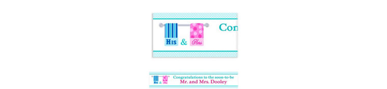 His and Hers Towels Custom Bridal Shower Banner