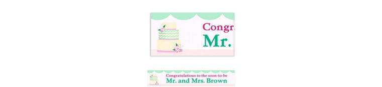 Custom Modern Wedding Cake Wedding Banner 6ft