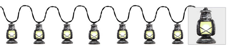 Railroad Lantern String Lights