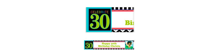 Custom 30th Celebration Photo Banner 6ft