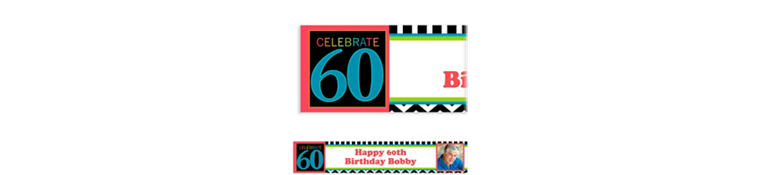 60th Celebration Custom Photo Banner