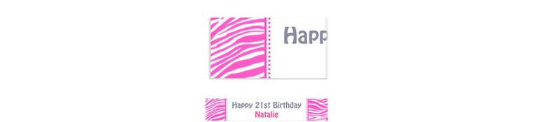 Custom Bright Pink Zebra Banner 6ft