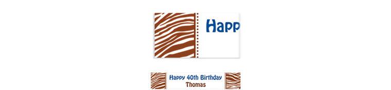 Custom Chocolate Brown Zebra Banner 6ft