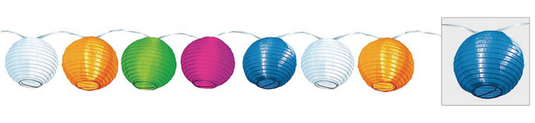 Multicolor Round Lantern Lights