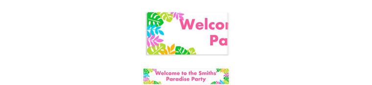 Custom Palm Leaf Banner 6ft
