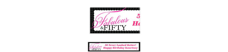 Custom Fabulous & Fifty Banner 6ft