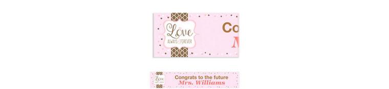 Custom Pink & Brown Wedding Banner