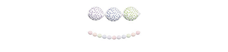 Transparent & Rainbow Polka Dot Balloon Garland