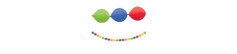 Rainbow Mini Balloon Garland