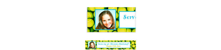 Custom Tennis Ticket Photo Banner