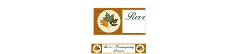 Custom Copper Leaves Banner