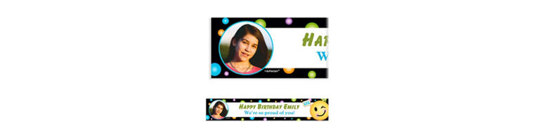 Custom Smiley Photo Banner