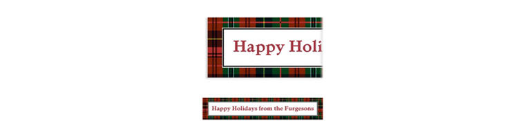 Custom Holiday Plaid Banner