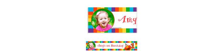 Custom Elmo 1st Birthday Photo Banner