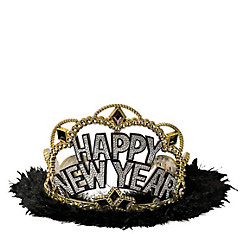 Black, Gold & Silver New Year's Tiara