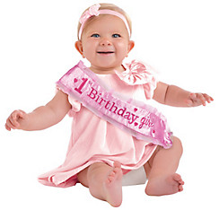Pink 1st Birthday Sash