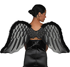 Black Marabou Angel Wings