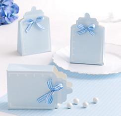 Blue Bottle Baby Shower Favor Box Kit 24ct