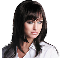 Angel Premium Shoulder-Length Mocha Brown Premium Wig