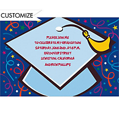 Custom Big Grad Cap Graduation Invitations