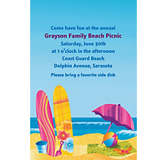 Surf's Up Custom Invitation
