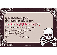 Midnight Dreary Halloween Custom Invitation