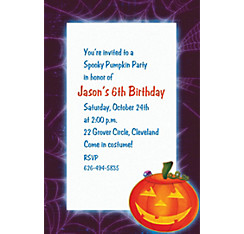 Playful Pumpkin Halloween Custom Invitation