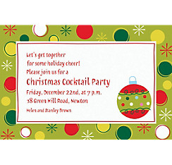 Holiday Buzz 1 Custom Christmas Invitation