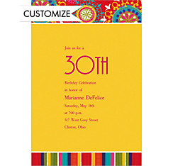Custom Del Sol Motifs Invitations