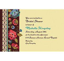 Elegant Jacquard Custom Invitation