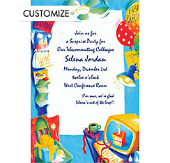Office Party Custom Invitation