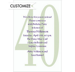 Big 40 Custom Invitation