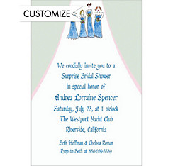 The Bridesmaids Custom Wedding Invitation