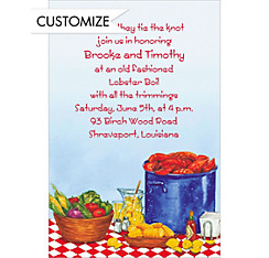 Party with Lobsters Custom Invitation
