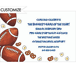 Football Party Custom Invitation