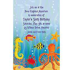 Under the Ocean Custom Invitation
