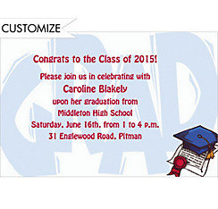Giant Grad Custom Invitation