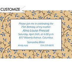 Graphic Vines & Berries Custom Invitation