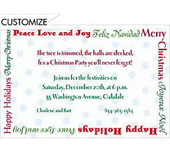 Christmas Wishes Custom Invitation