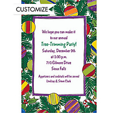 On the Christmas Tree Custom Invitation
