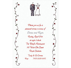 Little Outfits & Vines Custom Wedding Invitation