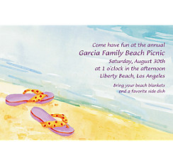 Sandals in the Sand Custom Invitation