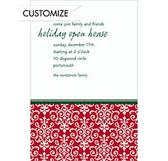 Christmas Damask Custom Invitation