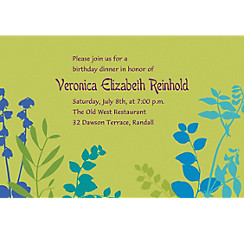 Bright Silhouette Custom Invitation