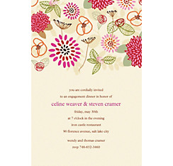 Prancing Pattern Warm Custom Invitation
