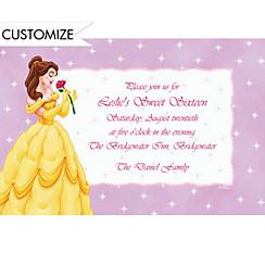Belle on Mini Stars Custom Invitation