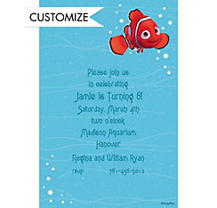 Nemo in Blue Water Custom Invitation