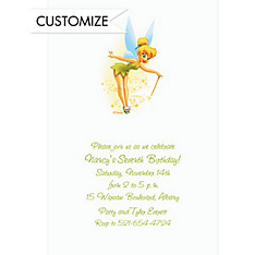 Tinker Bell with Pixiedust Custom Invitation