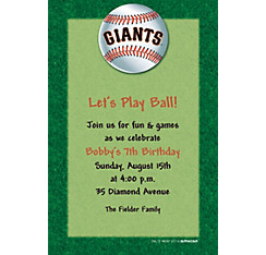 San Francisco Giants Custom Invitation
