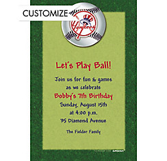 New York Yankees Custom Invitation